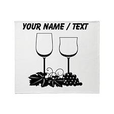 Custom Wine Glasses Throw Blanket