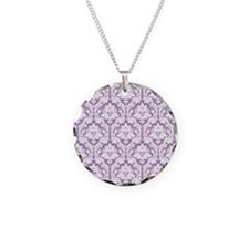 Lilac Violet Damask Necklace