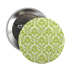 "Spring Green Damask 2.25"" Button"