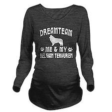 Belgian Tervuren Dog Long Sleeve Maternity T-Shirt