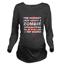 Zombie Apocalypse Long Sleeve Maternity T-Shirt