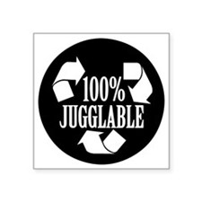 "100% Jugglable Square Sticker 3"" x 3"""