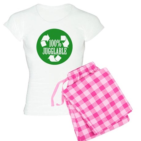 100% Jugglable (Green) Women's Light Pajamas
