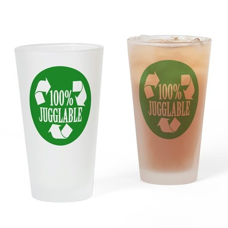 100% Jugglable (Green) Drinking Glass