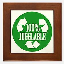 100% Jugglable (Green) Framed Tile