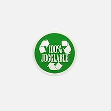 100% Jugglable (Green) Mini Button