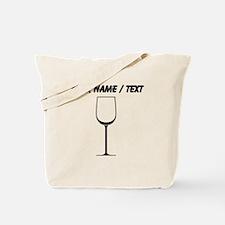 Custom White Wine Glass Tote Bag