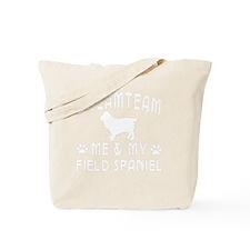 Field Spaniel Dog Designs Tote Bag