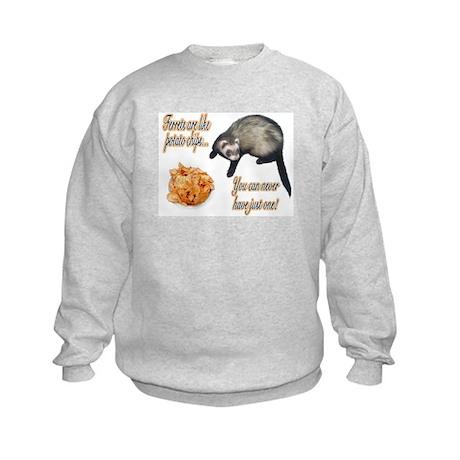 Ferrets are like potato chips... Kids Sweatshirt