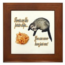 Ferrets are like potato chips... Framed Tile