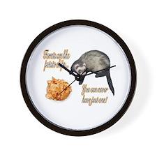 Ferrets are like potato chips... Wall Clock