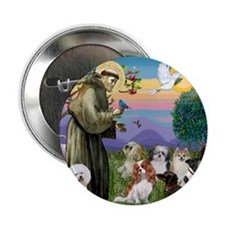 "1 - 8x10-StFrancis-10dogs 2.25"" Button"
