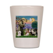 1 - 8x10-StFrancis-10dogs Shot Glass