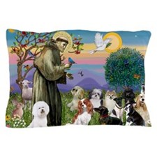 1 - 8x10-StFrancis-10dogs Pillow Case