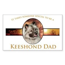 Keeshond Dad Decal