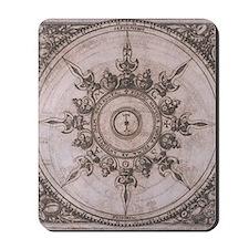 Antique Wind Rose Compass Design Mousepad