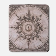Antique Wind Rose Compass Design Mousepad