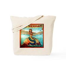 Vintage Mermaid Carnival Poster Shower Cu Tote Bag