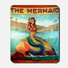 Vintage Mermaid Carnival Poster Shower C Mousepad