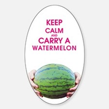 KEEP CALM AND CARRY A WATERMELON Sticker (Oval)