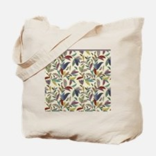 Muted Fall Mosaic Vines on Cream Back Tote Bag