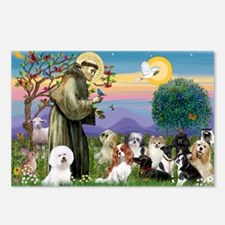 Saint Francis  10 dogs Postcards (Package of 8)