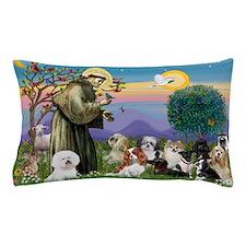 Saint Francis  10 dogs Pillow Case