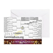Lent Madness 2013 Bracket Greeting Card