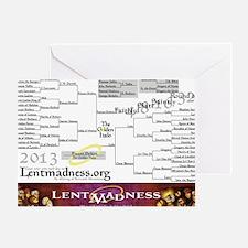 Lent Madness 2013 Bracket Greeting Card