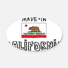 california-01 Oval Car Magnet