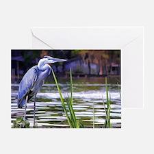 Blue Heron Sketch Greeting Card