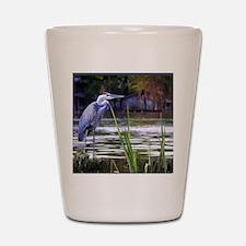 Blue Heron Sketch Shot Glass