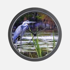 Blue Heron Sketch Wall Clock