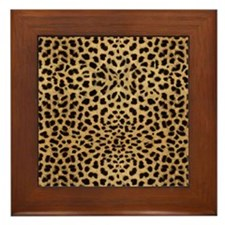 Cheetah Animal Print copy Framed Tile