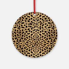 Cheetah Animal Print copy Round Ornament
