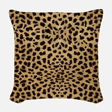 Cheetah Animal Print copy Woven Throw Pillow