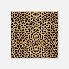 "Cheetah Animal Print copy Square Sticker 3"" x 3"""