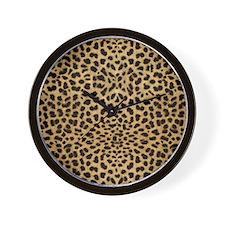 Cheetah Animal Print copy Wall Clock