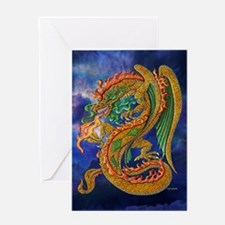 Golden Dragon 11x17 Greeting Card