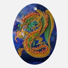 Golden Dragon 11x17 Oval Ornament