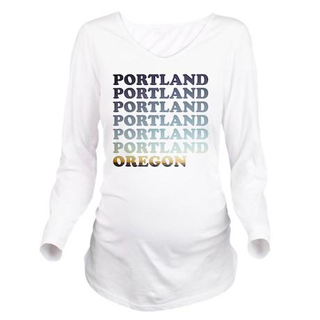 portland, oregon Long Sleeve Maternity T-Shirt