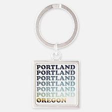 portland, oregon Square Keychain
