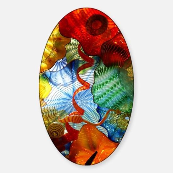 Glass Ceiling 3 Sticker (Oval)