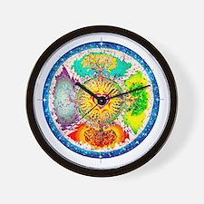 Four Seasons Mandala Wall Clock