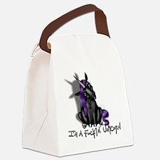 Ima Fuckin Unicorn /Black Canvas Lunch Bag