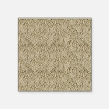 "Shaggy Fur Animal Print Square Sticker 3"" x 3"""