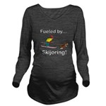Fueled by Skijoring Long Sleeve Maternity T-Shirt