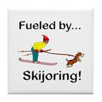 Fueled by Skijoring Tile Coaster