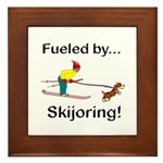 Fueled by Skijoring Framed Tile