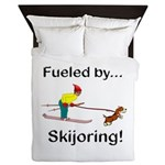 Fueled by Skijoring Queen Duvet